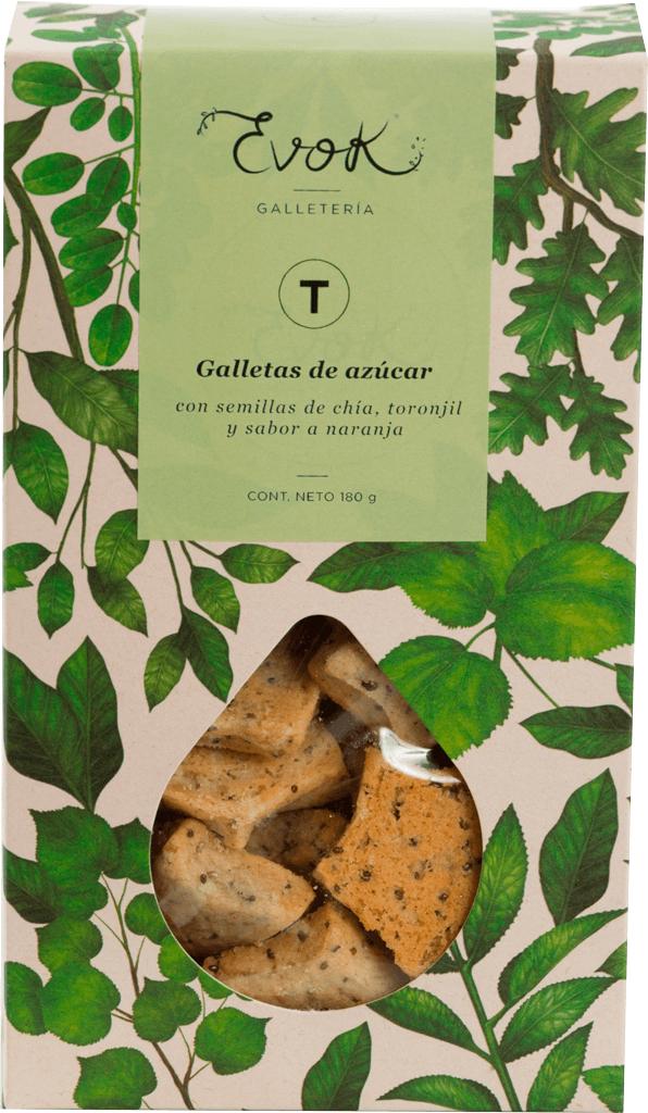 Galletas evok de azúcar, toronjil y naranja