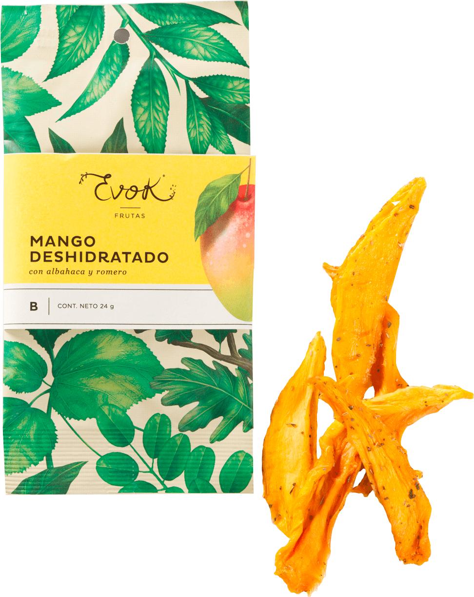 Fruta deshidratada de mango