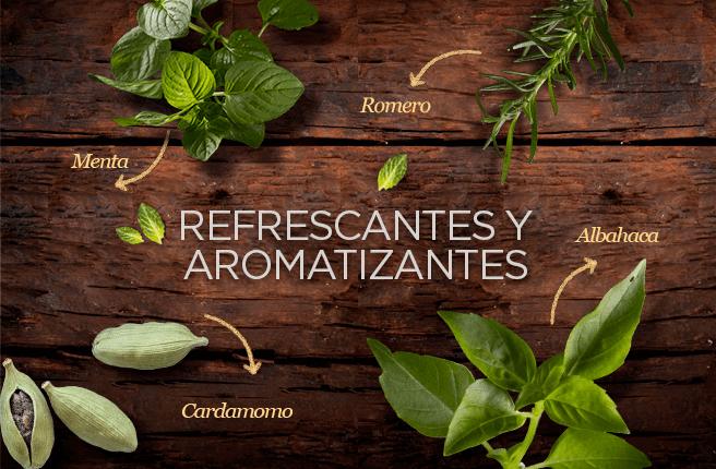 Refrescantes y aromatizantes