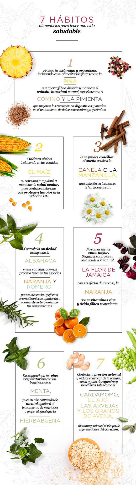 7 habitos alimenticios para tener una vida saludable