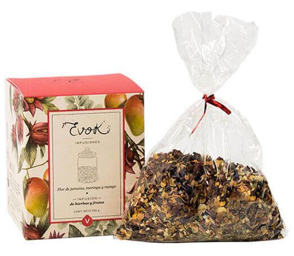 Infusión Flor de jamaica – Moringa – Mango