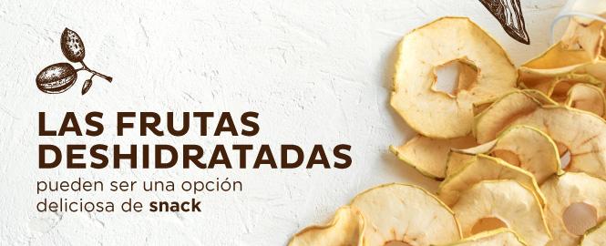 Las frutas deshidratadas pueden ser una opción de snack saludable.