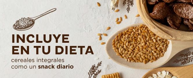 Los cereales, son un snack muy saludable.