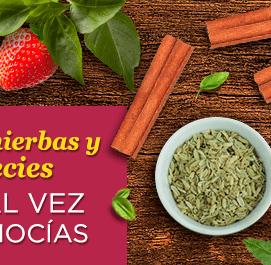 frutas, hierbas y especias