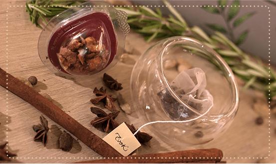 Té e infusión Evok: mezclas de hierbas, especias y frutas.
