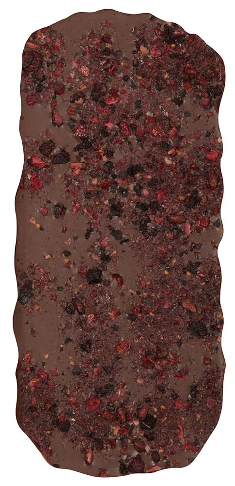 Barra de chocolate arándanos, granada