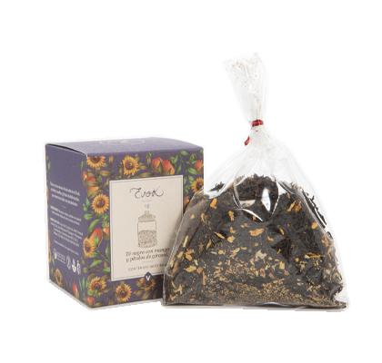 Té negro con mango y pétalos de gírasol. 80 g.