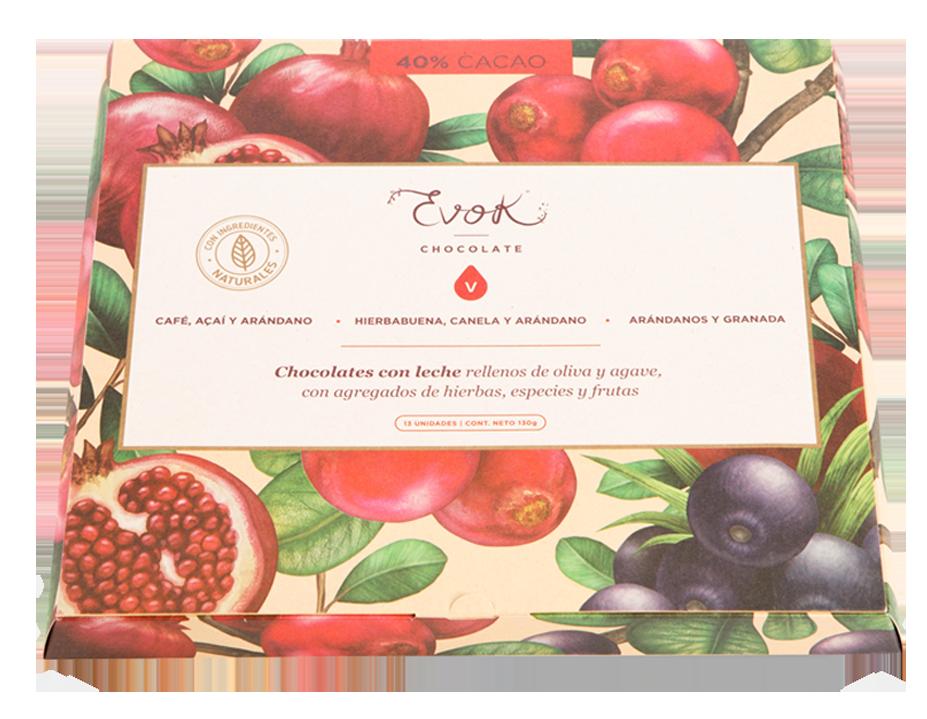 Estuche con chocolates de Amor Evok